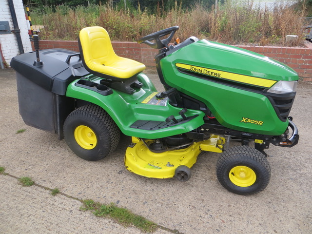 Used JOHN DEERE 305R RIDE ON MOWER for sale across England, Scotland & Wales.