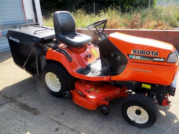 New and Used KUBOTA G18 Groundcare Machinery, compact tractors and ride mowers for sale across England, Scotland & Wales.